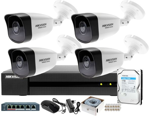 Kamery Zestaw Monitoring Hikvision BCS Dahua Montaż Kamer