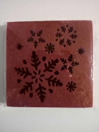 Podkładki filcowe czerwone 6 sztuk