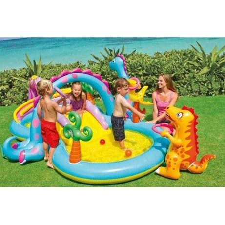 Детский надувной игровой центр бассейн горка Intex 57135