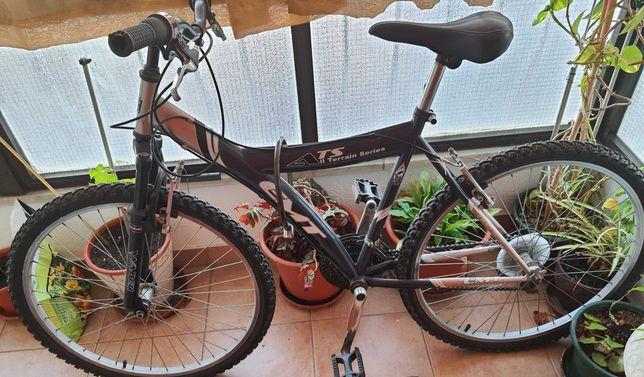 Bicicleta estática e de estrada