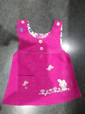 Cudna sukieneczka r 80 drobniutki sztruks
