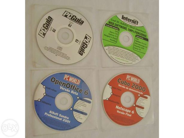 4 CD`s - PC World / PC Guia / Internet Prática