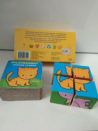 Кубики с книжечкой с животными для малышей