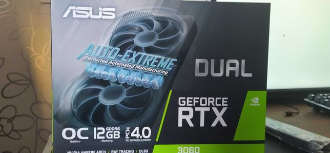 Asus Dual RTX 3060, nova - 850€