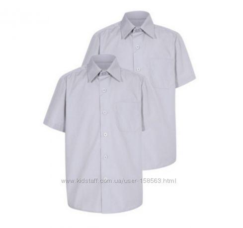Комплект 2 шт. школьных рубашек George. Размер 7-8 лет.