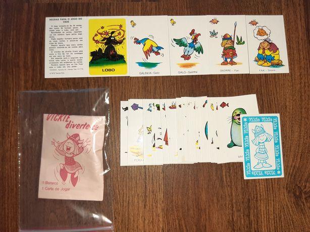 Coleção completa de cartas do Vickie Wickie + saqueta - novo