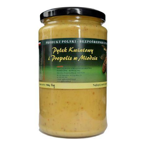 3w1 miód z pyłkiem i propolisem - zbiory 2020 - POLSKA PASIEKA wysyłka