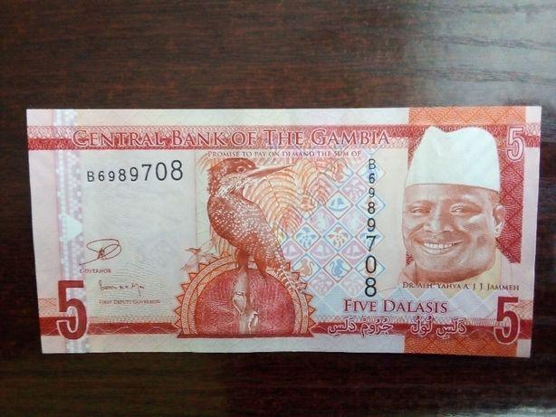 Banknot 5 dalasis Gambia