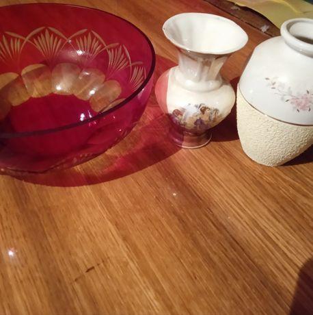 Ваза,красное стекло, времён СССР, декоративные вазочки, .