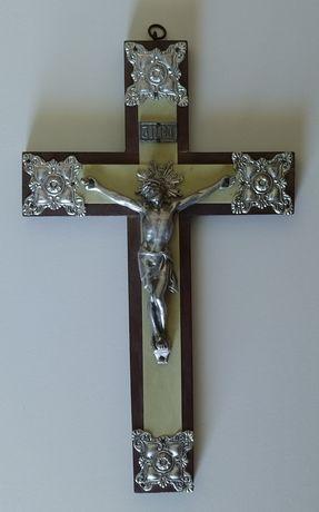 Crucifixo madeira/metal
