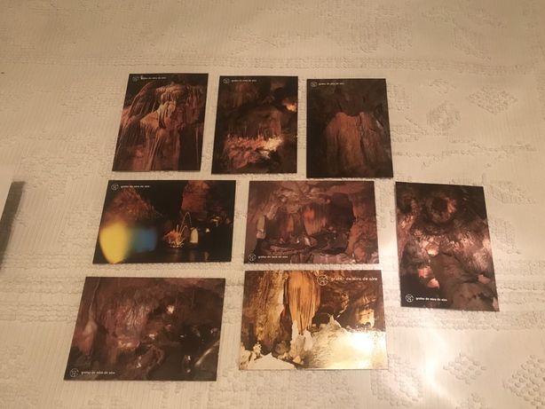 8 postais antigos das grutas de mira de aire