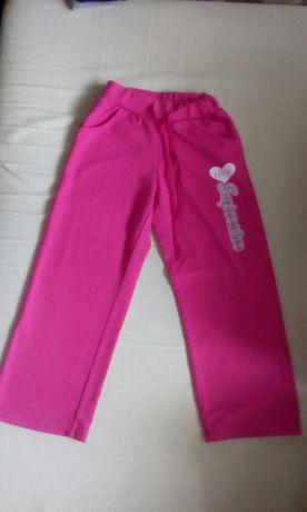 Dresowe spodnie r.116-122
