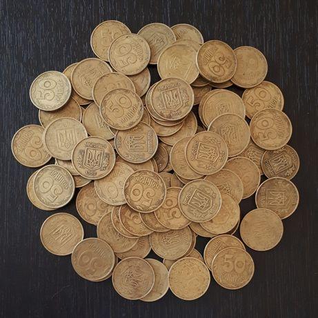 100 монет Украины 92, 94, 96 ЦЕНА ЗА ВСЕ есть малые гербы, 3 штамп