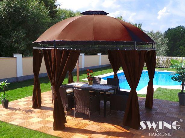 PAWILON namiot OGRODOWY 350cm Brązowy TOP LED