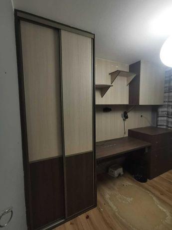 Meble - komplet (szafa, biurko, półki, komoda, szafka wisząca)