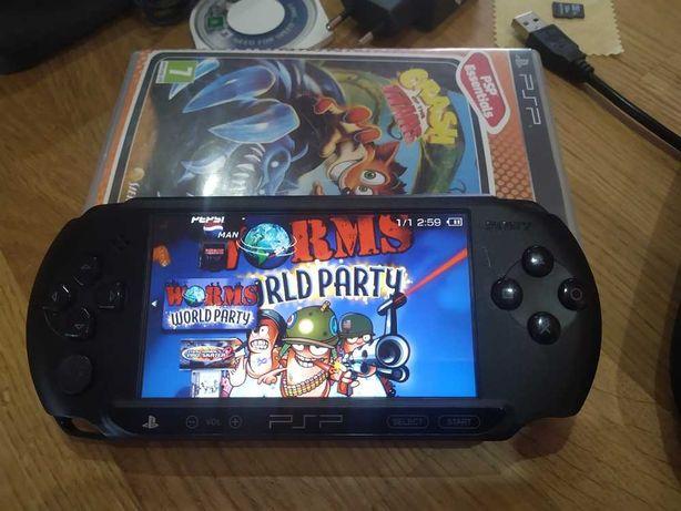 Sony PSP STREET+64 GB+USB+1000 GIER +Torba