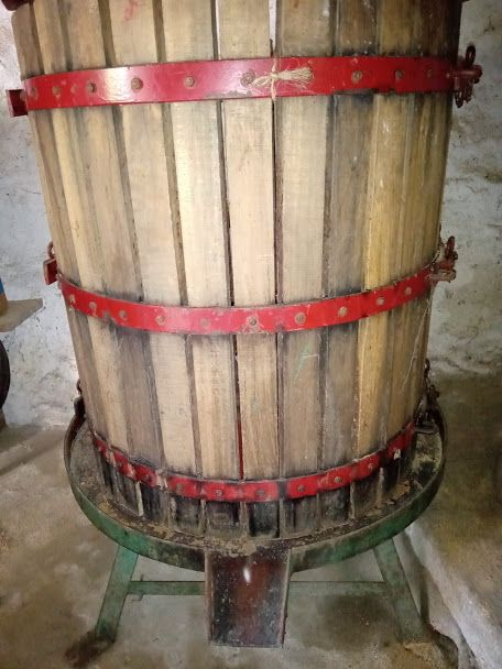 Prensa de vinho para espremer bagaço, para Desocupar