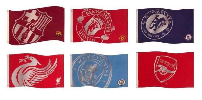 Флаги Барселона Арсенал Челси МанСити МанЮнайтед Ливерпуль