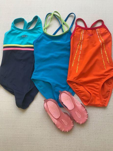 Fatos de banho e sandálias de natação Menina (3 anos)