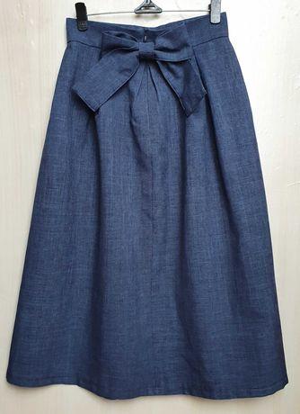 Шикарная юбка спідниця миди XS 34 в стиле Бель на выпуск