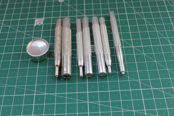 Набор установки кнопок Альфа и Каппа 8 предметов (инструмент для кожи)