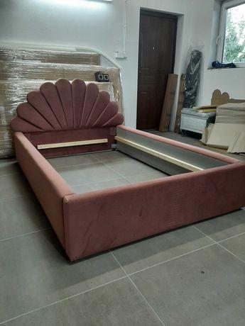 Łóżko tapicerowane, łóżko sypialniane MUSZELKA