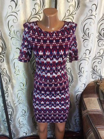 Стильное подростковое платье с абстрактным принтом new look