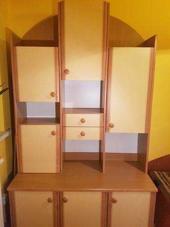 Meblościanka segment zestaw regał szafa biurko dla dziecka lub biura
