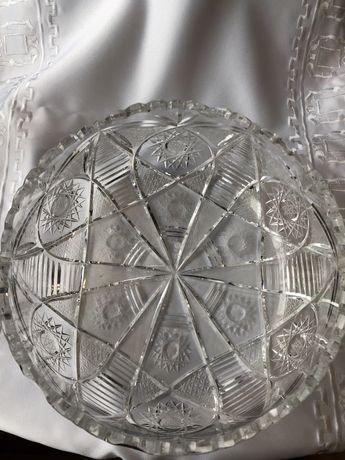 Duza kryształowa salaterka KRYSZTAŁ