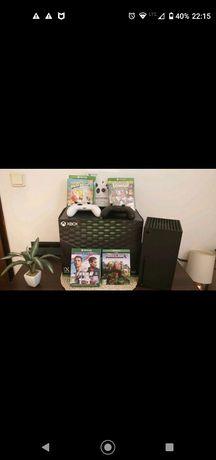 Xbox series X, 2x DualShock, 4 gry, ubezpieczenie ZAMIANA!