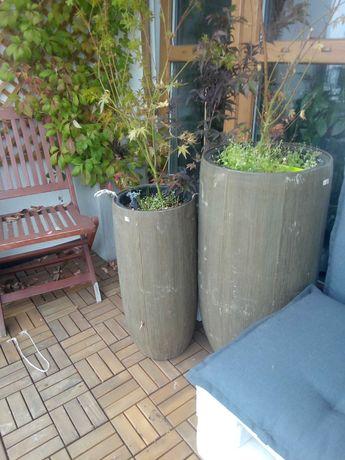 donice ceramiczne na taras lub balkon 2 sztuki