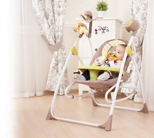 Детское кресло-качалка 3в1 качалка 0+ люлька с пультом CARRELLO Nanny