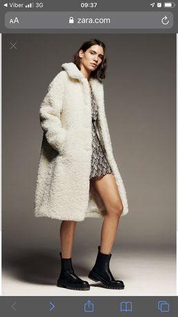 Пальто шубка из искусственного меха новое Zara размер М
