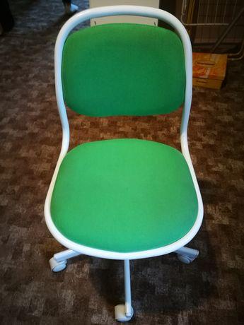 Krzesło dziecięce biurowe IKEA ORFJALL zielone