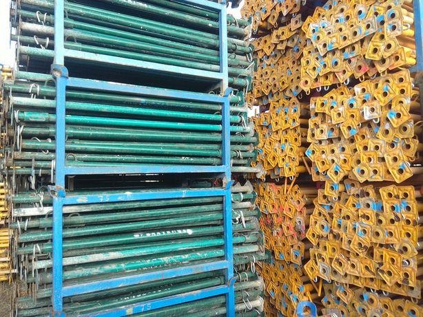 Stemple budowlane metalowe regulowane podpory stropowe Importer Dowóz