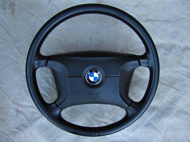 KIEROWNICA SKÓRZANA BMW E34 E36 - Poduszka powietrzna / Ładna skóra