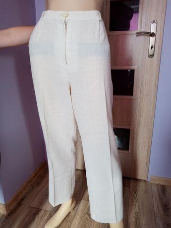 Lekkie ekry spodnie rozm XL,stan idealny