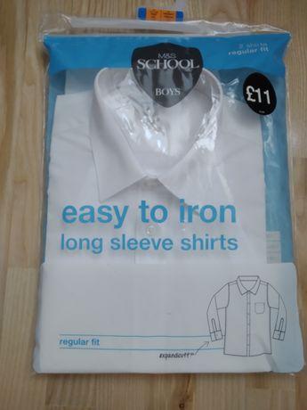 Рубашка белая на мальчика M&S, длинный рукав, 11-12 лет, новая
