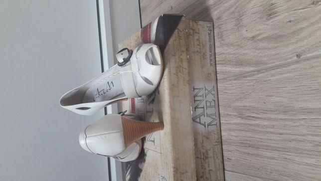 Czółenka open toe sandałki 37 24.5 cm