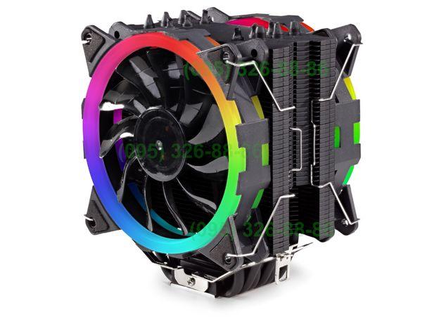 Кулер для процессора тести в описі 120 мм 6 тр. 180 Вт Intel AMD