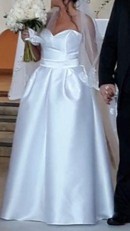 Suknia ślubna z kieszeniami rozmiar 36-38