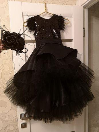 Шикарные платья в пайетках паетка на фотосессию пышное перо с пером