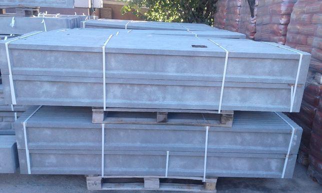 Podmurówka płyta betonowa 245/25 cm panele ogrodzeniowe