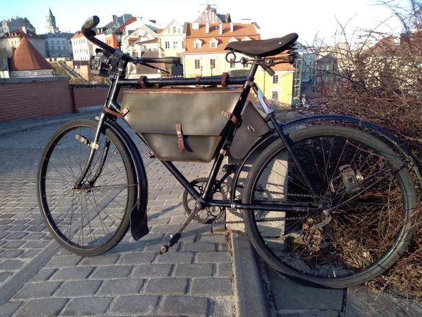 Torba skórzana pod ramę stary rower wojskowy Ordonnanzrad