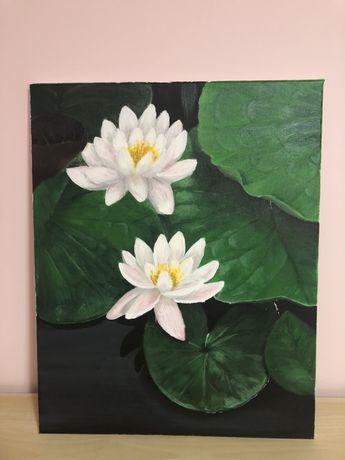 Obraz akrylowy lilie hand made
