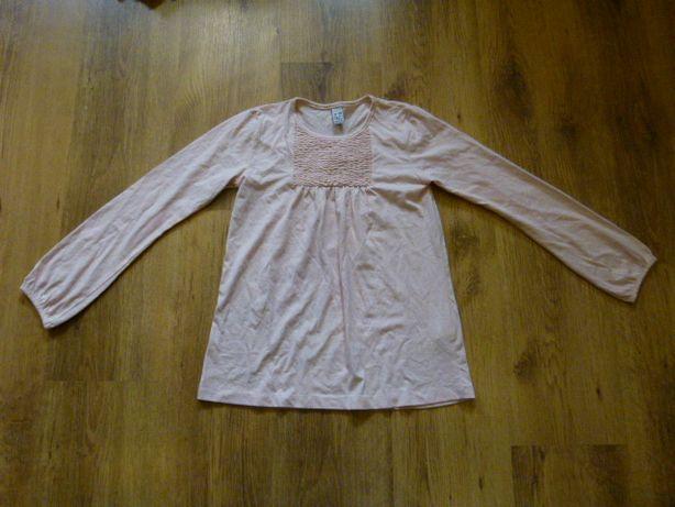 Zara bluzeczka długi rękaw jasny róż rozmiar 140