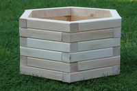 Donice drewniane sześciokątne, doniczka sześciokątna, kwietnik drewno