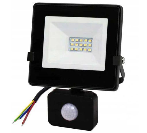 Lampa Naświetlacz LED 10W z czujnik ruchu