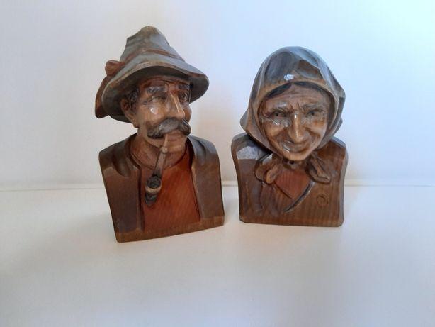 Rzeźba z drewna, Baba i Chłop,