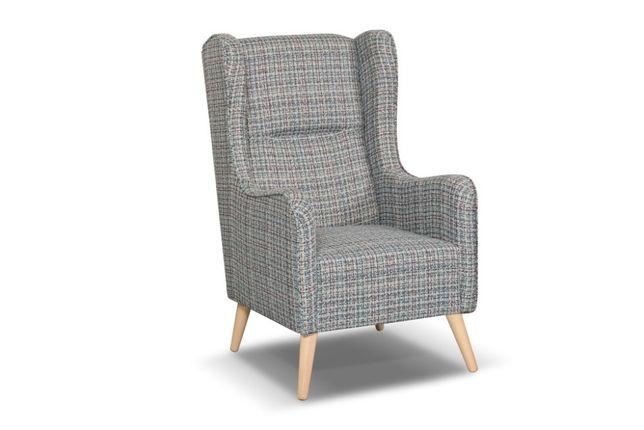 Wąski fotel typu Uszak - Chester
